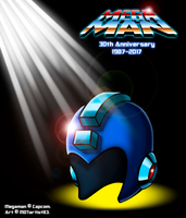 Megaman 30th Anniversary by MDTartist83