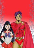 Sailor Mars and Gladiator by HighwindDesign