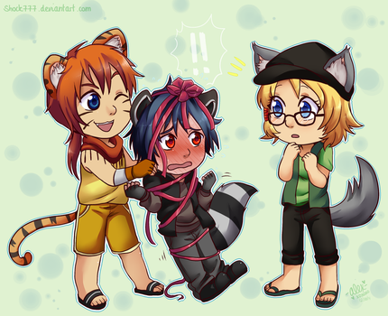 Iccolo, Takara, and Meje Commission by shock777
