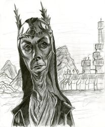Jean Marsh as Queen Bavmorda (Willow) by Caricature80