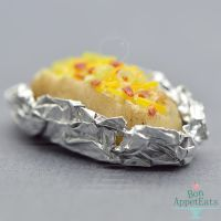 1:12 Dollhouse Scale Loaded Baked Potato by Bon-AppetEats