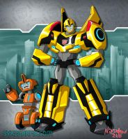 Transformers RiD 2015 Bumblebee and Fixit by ninjatron