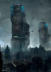 UET Tower cityscape by LMorse