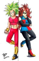 Kefla and Android 21 by TrissyGabriel