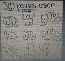 30 point YCHs - OPEN by coldioc