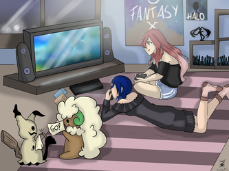 PTS COLLAB: Gaming Night by SnowAngelRika