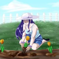 Tending To The Garden by Freyamustdie