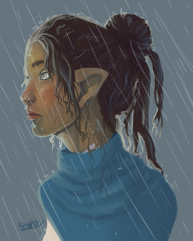 In the Rain by Rainydaysmiles