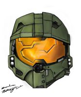 Master Chief then and now. by Mechformer93