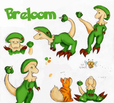 Breloom Sketches by the-sneaky-burger