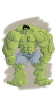 Hulk sketch on android phone by 12BarBlues