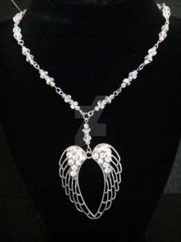 Crystal Wings Necklace by TheCraftyMaiden