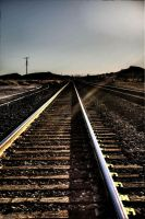 Tracks Through Route 66 HDR by mr468
