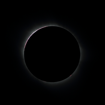 Solar Eclipse 2017 - Inner Corona and Prominences by harbingerdawn