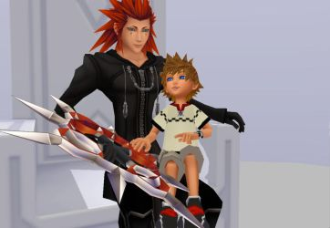[MMD] Axel and Roxas by oOKira97Oo