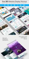 Realistic 3D Website Display Mockup by theanthnonyrich