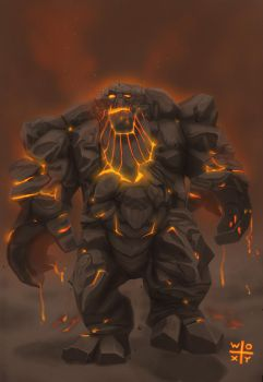 Molten Behemoth by woxy