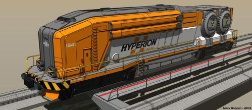 Nuclear Freight Engine by Marrekie