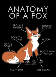 Anatomy of a Fox by artwork-tee