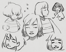 frisk sketchpage by knightic