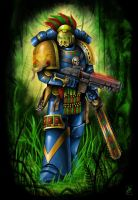 Sun Serpents Space Marine by Filip-Hammer