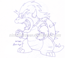 bowser doodle by Nintendrawer