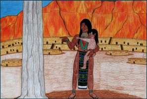 The Mother of Pueblo Bonito by Eldr-Fire