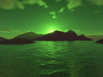 Green Sunset by Aleioz