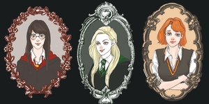 Fem! Harry, Ron and Draco by deepdepp