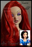 repainted ooak jessica rabbit doll. by verirrtesIrrlicht
