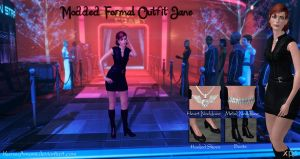 Mass Effect 3 - Modded Formal Outfit Jane for XPS by KurauAmami