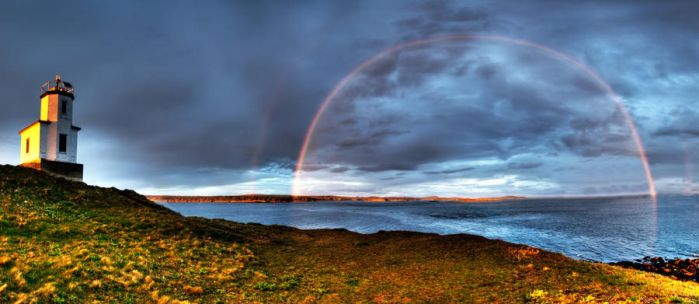 Cattle Point Rainbow 3 by CharlesWb