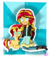 Sunset Shimmer Girl  Pony by foxxy00candy
