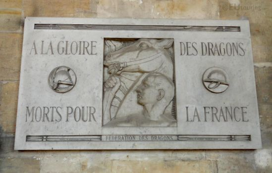 Memorial plaque at Les Invalides by EUtouring