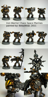 Iron Warriors Squad Aleph by Belazikkal