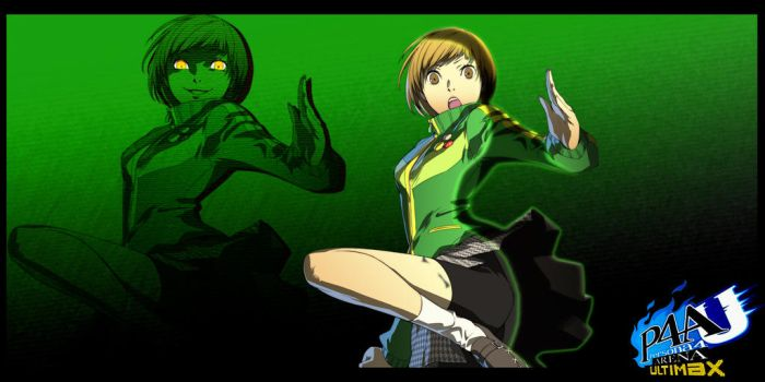 P4AU Chie w/ Shadow Chie Wallpaper by Theahj90