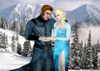 Frozen - Prince Hans x Queen Elsa by SovietMentality