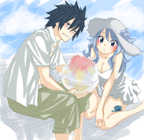 Gruvia Summer Time by Rytsuko