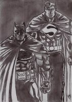Batman Superman TDKR 3 by nic011