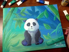 Bamboo Bear by SvetlankaArt