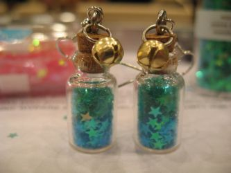 Blue Btle Earrings Commission by Michi01