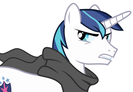 [Request ]Shining Armor Looking Angry (No Mask) by Uponia