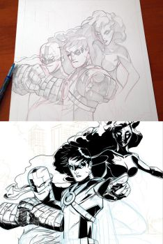 traditional vs digital by toonfed