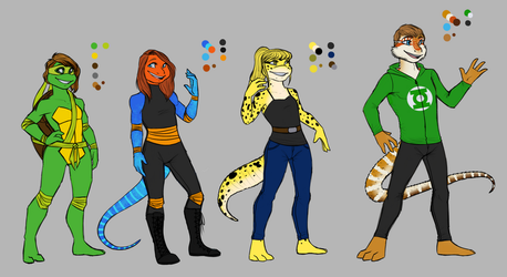 The Squad - lineup (w/ gear) by Silver-Monster