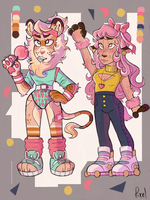 S A L E::::80s cuties Adopts  OPEN by pixelthefox