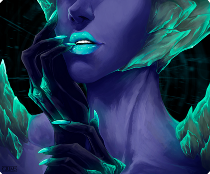 [COMM] for Villainess-art - BLACKLIGHT by giums