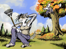 Welcoming Autumn by Hobbes-Maxwell