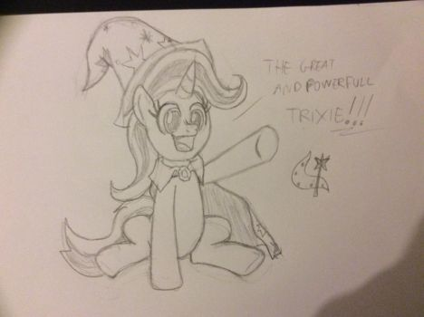 [penciling] The great and powerfull Trixie by LK-Web