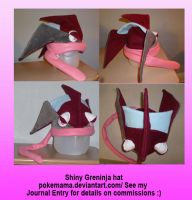 Shiny Greninja hat by PokeMama