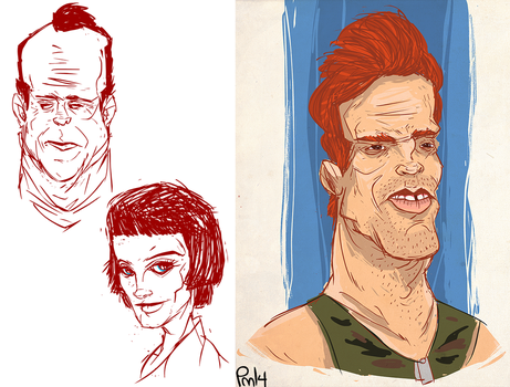 1st try at caricatures by SomethingEveryDay